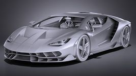 HQ LowPoly Lamborghini Centenario lp 770-4 2017 Image 11