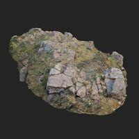3d scanned rock cliff B