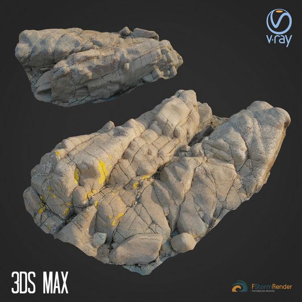 3d scanned rock cliff G