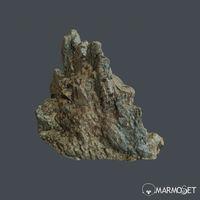 3d scanned rock cliff H