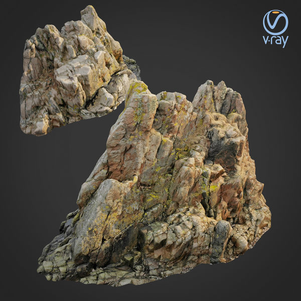 3d scanned rock cliff H