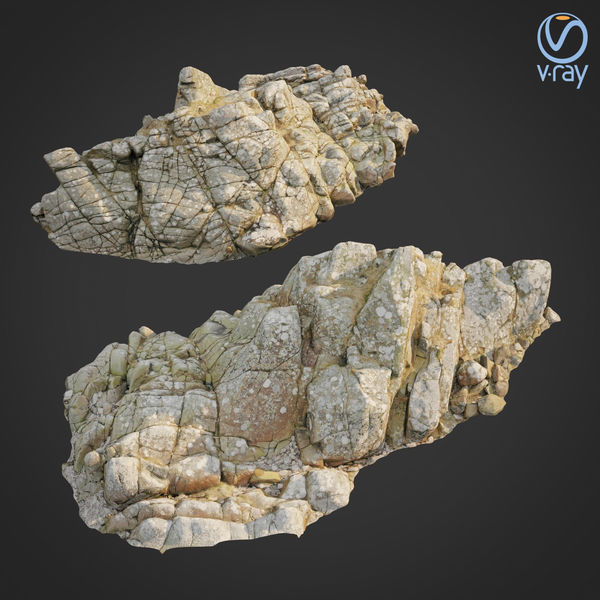 3d scanned rock cliff L2