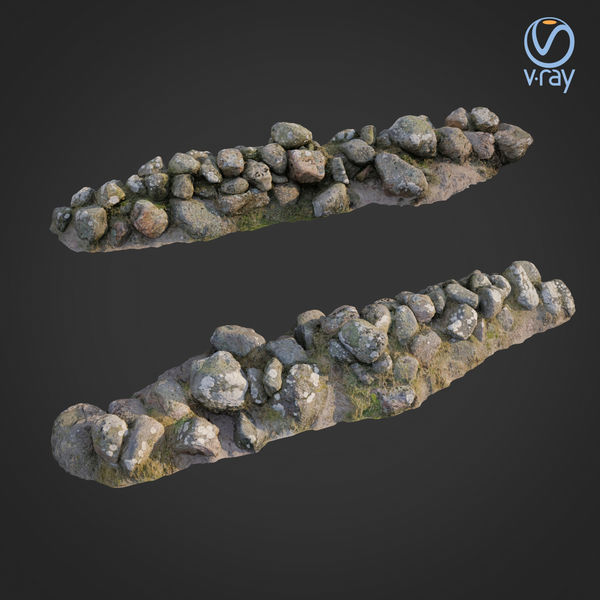 3d scanned nature stone wall A