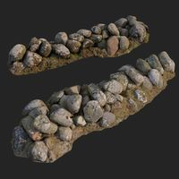 3d scanned nature stone wall B
