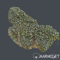 3d scanned nature stone wall E
