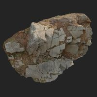 3d scanned cliff face A