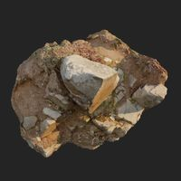 3d scanned cliff face B