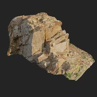 3d scanned cliff face F