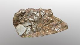 3d scanned cliff face G
