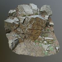 3d scanned cliff face H
