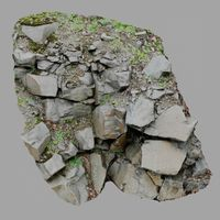 3d scanned cliff face M