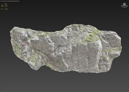 3d scanned cliff face N