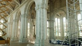 Church Interior Restoration Scene