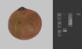 onion 3d scanned