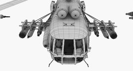 Mi-8MT Russian Air Force Animated