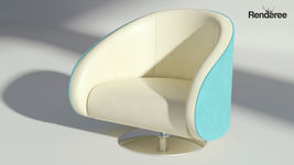 Leather Rotating Armchair
