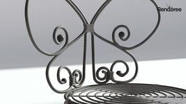 Floral Metal Bistro Chair