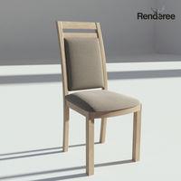 Light Wooden Sidechair