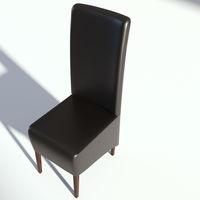 Black Leather Sidechair