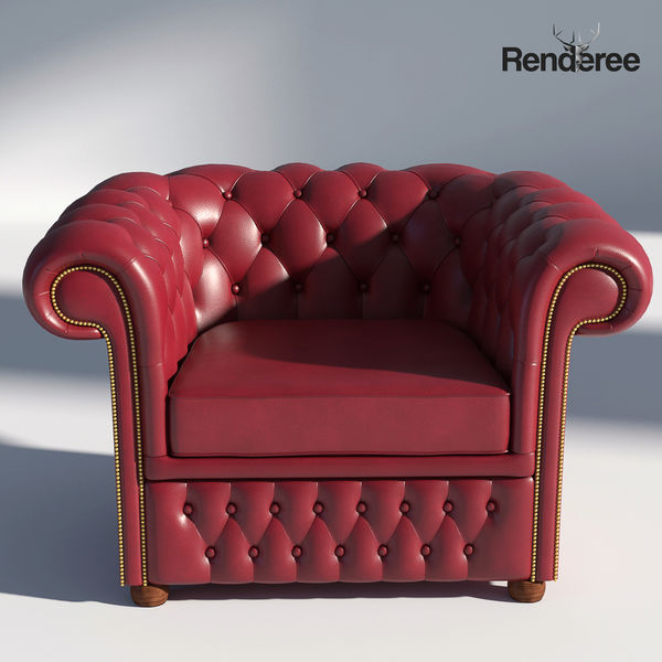 Chesterfield Armchair Red