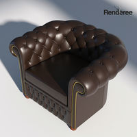 Chesterfield Armchair Brown