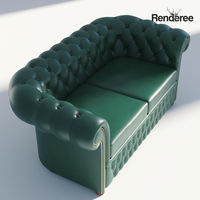 Chesterfield Sofa 2 Green