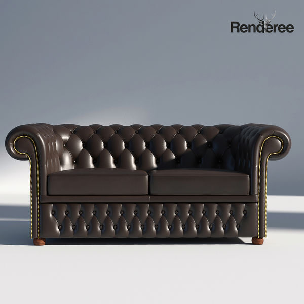 Chesterfield Sofa 2 Brown