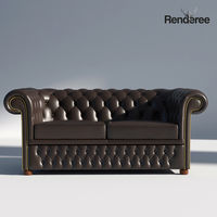 Chesterfield Sofa 2 - Green Brown Red