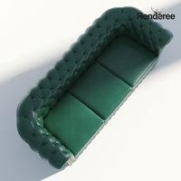 Chesterfield Sofa 3 Green