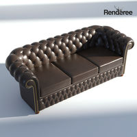Chesterfield Sofa 3 Brown