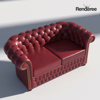 Chesterfield Set - Brown Green Red