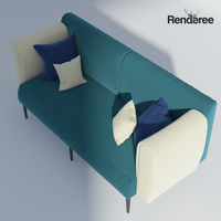 Fabric Sofa Set with Pillows