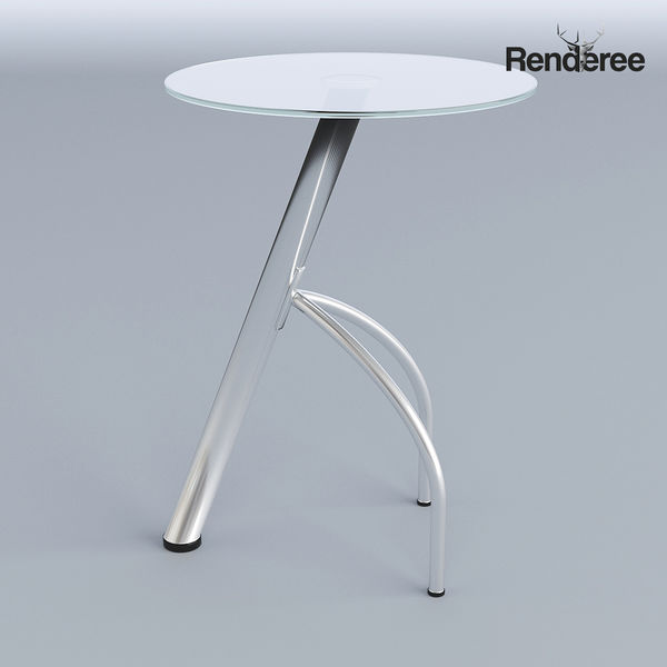 Round Glass Small Table