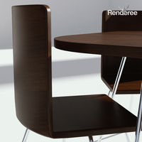 Dark Wooden Dining Set - Table and Chairs