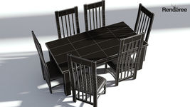 Wooden Dining Set - Natural Table and Chairs