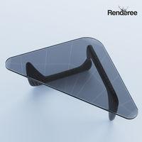 Triangular Glass Coffee Table