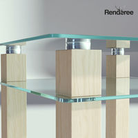 Glass Wooden Coffee Table
