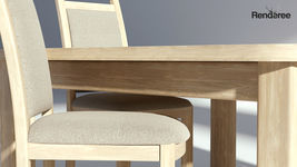 Bright Wooden Dining Set Table with Chairs
