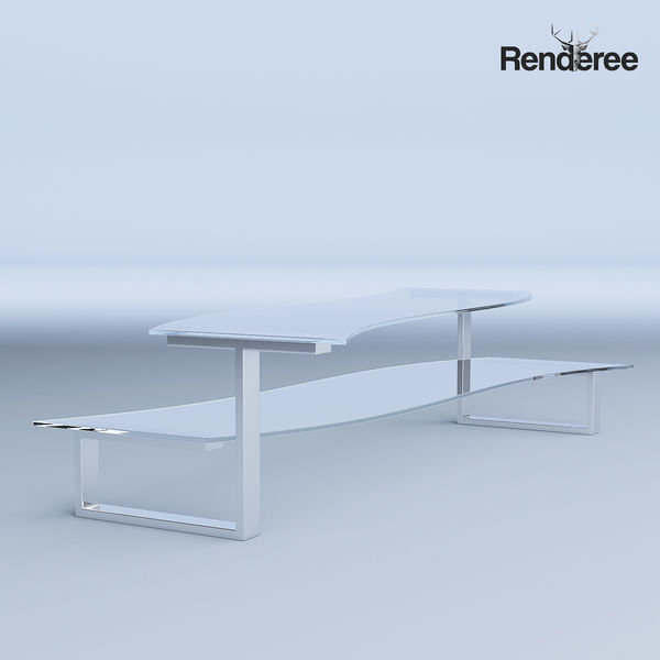 Glass Coffee Table with Bench