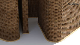 Terrace Wicker Table with Seatings