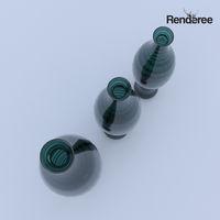 Glass Green Vases