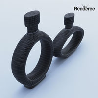Black Decanter Glass