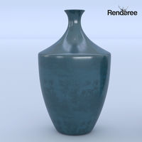 Ceramic Blue Vases