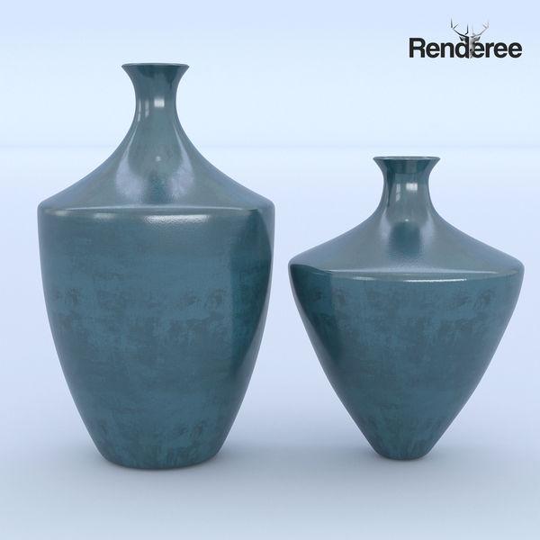 Ceramic Blue Vases