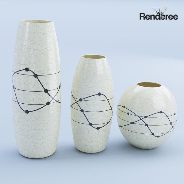 Ceramic White Vase Set