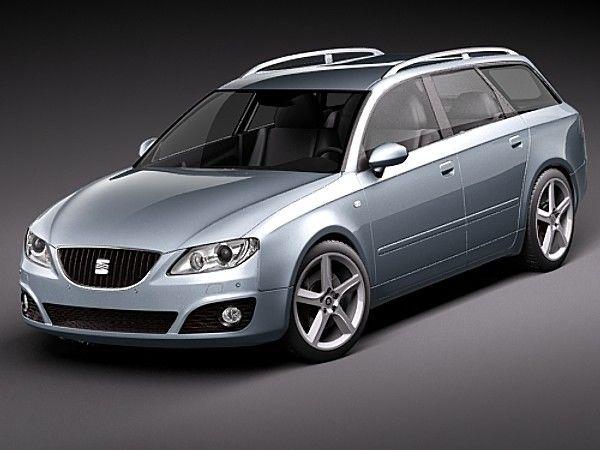 Onwijs Seat Exeo ST Sedan Car Vehicles 3D Models LT-27