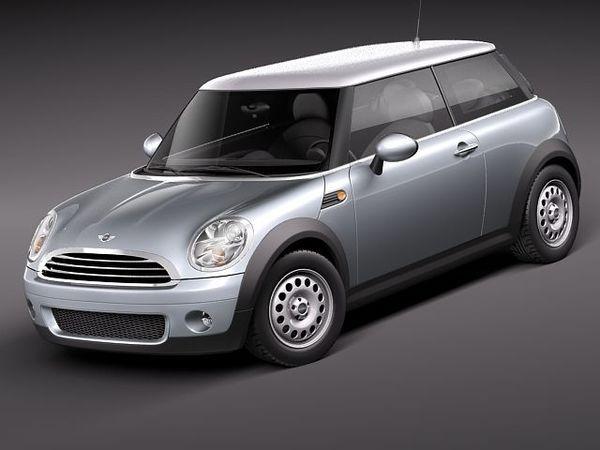 Mini Cooper One Sedan Car Vehicles 3d Models