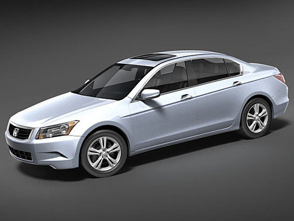 Honda Accord USA Sedan Car Vehicles 3D Models