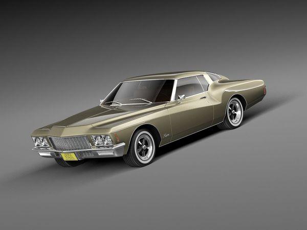 buick riviera gs boattail 1971 oldtimer car vehicles 3d models. Black Bedroom Furniture Sets. Home Design Ideas